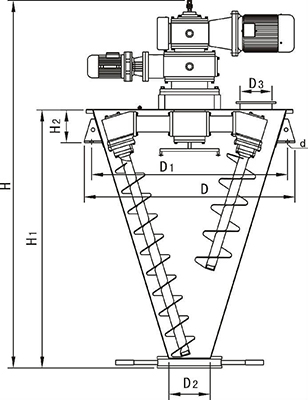 Screw Mixer, Vertical Ribbon Mixer