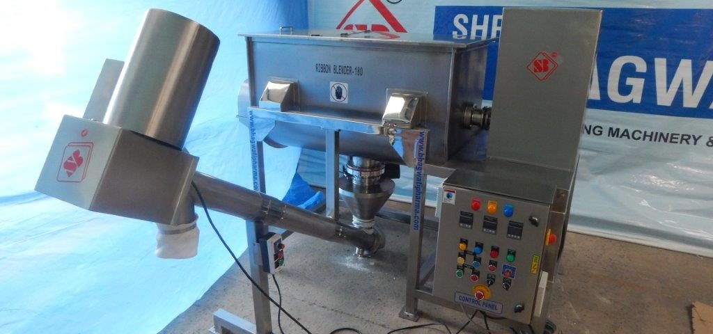 ribbon blender with screw conveyor